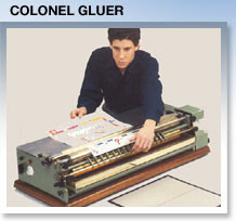 gluefast colonel Gluer paper glue machine