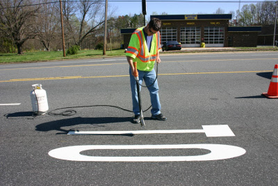 Ripack Road Marking with Heat Gun